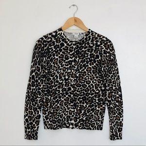 NWOT J. Crew Animal Leopard Print Caryn Cardigan